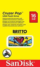 SanDisk Cruzer Pop USB Flash Drive 16GB-Britto Special Edition