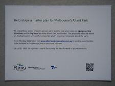 Albert Park Master Plan Parks Victoria Advert Postcard