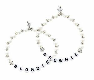 Blondie Brownie Armband Set  2 Freundschaftsarmbänder beste Freundin Armkettchen