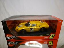 HOT WHEELS 29753 FERRARI 250 LM - #26 - YELLOW 1:18 - EXCELLENT IN BOX
