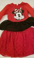 Disney Girls Toddler Kids Minnie Mouse Tutu Dress Cartoon Party Top Skirt Outfit