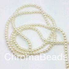 3 Mm Cristal Perlas de Imitación De Filamento-Marfil (230 + Perlas) la fabricación de joyas, Artesanales