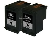 2 Black Ink Cartridges for HP 63XL HP Deskjet 1110 1112 2130 3630 3632 3634 3636