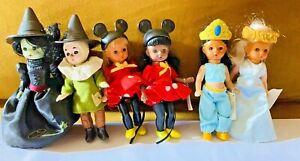 Vtg Lot of 6 Madame Alexander Dolls Wizard of Oz Minnie Mouse Jasmine Blue Fairy