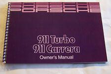 1989 Porsche 911 Carrera Owners Manual Parts Service 911 Turbo factory reprint
