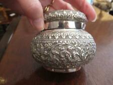 Indian Silver Jar and Cover Circa 1900 Kutch