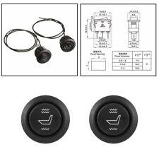 Universal 2x Car Seat Heater Switch 3 Pin Heated Rocker Hi Low Off Control Black