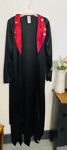 Womans Victorian Witch XL Cape Black Velvet NWOT Cape Costume