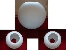 GRAND GLOBE LAMPE A PETROLE  OU HUILE OPALINE BLANCHE OPAQUE  N°2