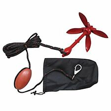 Red Folding Grapnel Anchor Kit 1.5kg for PWC/Kayaks/Jet Skis/Dinghys/RIB/Canoe