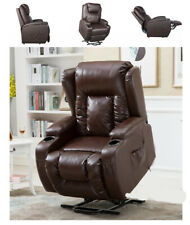 Manual Power Recliner Chair Overstuffed Padded Sofa Comfortable Wide Seat