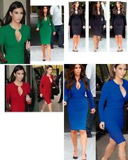 LADIES WOMENS SEXY CELEB INSPIRED BODYCON FORMAL ELEGANT DRESS COMES IN 4 COLOUR