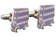 Officially Licensed Harry Potter Silver Plated Knight Bus Cufflinks