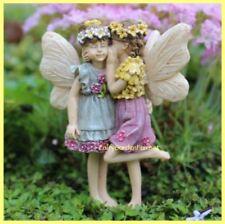Miniature Dollhouse Garden Fairies Kennedy & Megan Friends Share a Secret