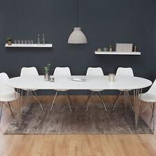 Moderner Esstisch ARRONDI weiß 160-256cm ausziehbar Küchentisch Esszimmertisch