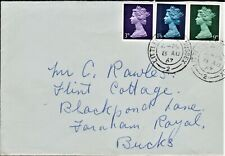 GB 1967 PLAIN FIRST DAY COVER BRITISH DEFINITIVE ISSUES SG729,740,743