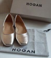 New HOGAN Gold Metallic Ballet Pumps TODS Shoes Size EU 35.5 UK 3.5 US 5.5