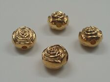 CCB Style Acrylic Flower Beads, Qty 4 Golden, 16x13mm, Hole: 3mm