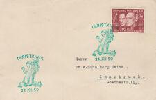 Christkindl Brief 24.12.1950 mit Gruber/Mohr (Leerstempel