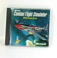 Microsoft Combat Flight Simulator WWII Europe Series 1998 Vintage PC World War