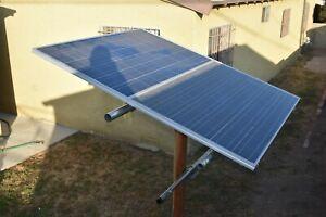 DIY Universal Solar panel mount, mounts on wood post or steel post. ETDH1