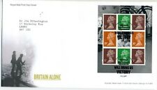 GB 2010 Britain Alone booklet pane FDC with 'Your courage....' cancel