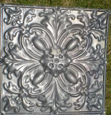 Rare Antique Victorian Ceiling Tin Tile Gothic Quatrefoil Flower Shabby Chic