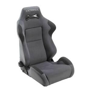 Cobra Daytona Reclining Sports Coupe Car Seat Grey Spacer Fabric