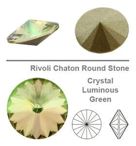Genuine SWAROVSKI 1122 Rivoli Round Crystals Foiled * Many Colors & Sizes