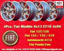 4 Cerchi Minite 6x13 Simca 1000  1200 Rallye Wheels Felgen llantas Jantes TUV