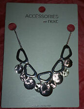 """New Accessories by Next Silver Coloured Metal Coin Necklace 18"""" + 2"""" extender"""