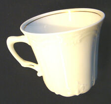 Hutschenreuther Baronesse White Cup Mug Gold trim Mint Condition #9