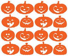 Autocollant citrouille Halloween Ensemble de 16 vinyle pour Windows, murs, des véhicules, etc..