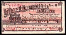 Mazatlan, Tes Gral del Estado de Sinaloa 50 Centavos 1914 M3756c / SI-SIN-9  XF