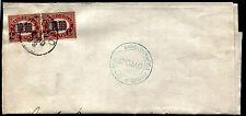 1880 - Lettera resa franca con coppia 2 cent. su 10 Lire - Sassone n.36