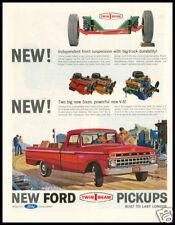 1967 vintage ad for Ford Pickup Trucks