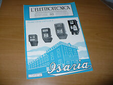 RIVISTA L'ELETTROTECNICA AEI N.7 4/1936 COPERT.SOCIETA' ISARIA CONTATORI ELETTR.