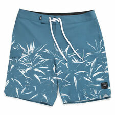Vans V SCALLOP Mens Polyester Stretch Boardshorts 32 Real Teal NEW 2018
