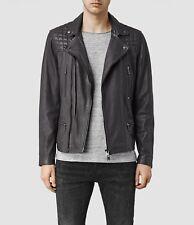 All Saints Rowley Leather Biker Jacket Black size XS