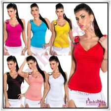 Women's Top Ladies Sexy Everyday Casual Fitted Vest Tank Top One Size 6,8,10,12
