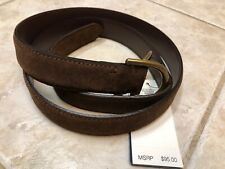 Polo Ralph Lauren Brown Suede D-Ring Belt Mens Large NWT