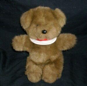 "8"" VINTAGE 1982 BITSY NORTH AMERICAN BROWN TEDDY BEAR STUFFED ANIMAL PLUSH TOY"