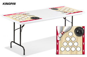 Universal Boardgame Folding Table Top Games Decal Sticker Beer Pong Mats KINGPIN