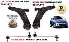 Per Hyunda i10 08 - & GT NUOVO 2 X Anteriore Stabilizzatore collegamento BARRE + 2 Anteriore Forcella armi