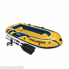 Intex Challenger 3, 3-Person Inflatable Boat set Pump+Oars Included in box
