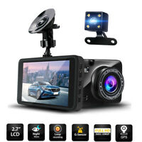 1080P HD Dual Dash Cam Front and Rear Car Dash Camera Recorder Night Mode