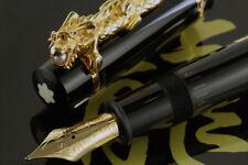 Montblanc Year of the Golden Dragon 2000 Fountain Pen #1521 - Medium Nib