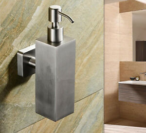 SUS Soap Dispenser Liquid Bottle Holder Bath Shower Storage Wall Mount Bathroom