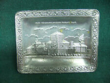 Antique Chicago World's Fair Metal Ashtray or trinket dish FORT DEARBORN