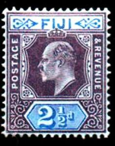 FIJI. 1903 2 1/2d. BLUE   MOUNTED MINT SG#107
